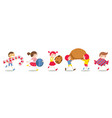 character kids carry beloved sweets vector image