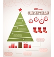 christmas infographic icon set vector image vector image