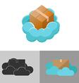 Cloud Box Logo Icon Symbol vector image vector image