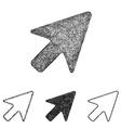 Cursor icon set - sketch line art vector image vector image