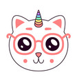 cute kitty head vector image vector image