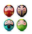 daruma japan culture isolate object vector image vector image