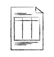 document page icon vector image vector image