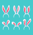 easter bunny pink ears funny decorative costume vector image