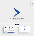 flying bird swallow logo template with business vector image