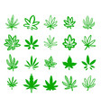hand drawn icon set of green vector image