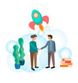 handshake of business partners vector image vector image