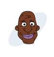 happy black man face vector image