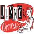Happy maids vector image vector image