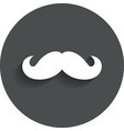 Hipster mustache sign icon Barber symbol