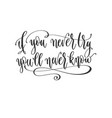 if you never try you will never know - hand vector image vector image