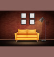 interior living room and loft vector image