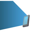 Light beam from screen vector image vector image