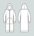 long jacket with hood vector image vector image