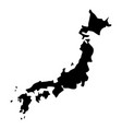 map of japon icon black color flat style simple vector image