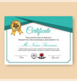modern verified certificate background vector image