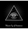 Omniscience All seeing eye symbol vector image vector image