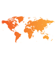 Orange world map vector | Price: 1 Credit (USD $1)
