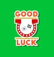 Paper sticker on stylish background good luck logo