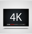 payer video 4k frame on the white background vector image vector image