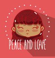 peace and love cartoons vector image