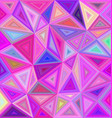 Pink triangle mosaic background design vector image vector image