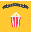 Popcorn Big film strip round wave ribbon line with