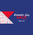 presidents day sale banner template vector image vector image