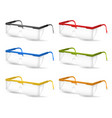 realistic detailed 3d plastic safety glasses color vector image vector image