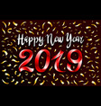red 2019 change represents the happy new year vector image