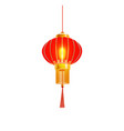 red chinese lantern isolated vector image vector image