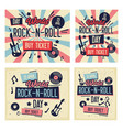 rock festival poster world rock-n-roll day banner vector image vector image