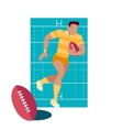 Rugby Sport Concept Icon Flat Design vector image
