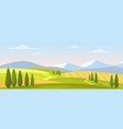 rural landscape in summer vector image vector image