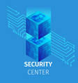 security center square banner big data processing vector image