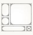 set flourishes calligraphic elegant frames vector image vector image