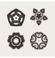 Set of ornate mandala symbols Gothic lace vector image