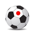 soccer ball with the flag of Japan vector image vector image