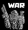 soldier future vector image