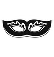 strange carnival mask icon simple style vector image vector image