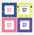 summer sale set of social media banners vector image