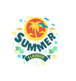 summer summertime themed typographic vector image vector image
