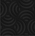 Textured black plastic striped pin will vector image vector image