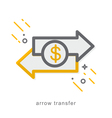 Thin line icons arrow transfer vector image