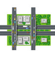 top view from traffic transport vector image vector image