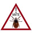 Warning sign Carefully harvest bug vector image vector image