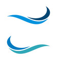 wave swoosh logo template design eps 10 vector image vector image