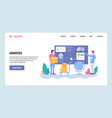 web site gradient design template tracking vector image