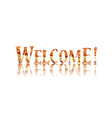 welcome text lettering vector image