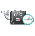 with clock button f3 on character keyboard vector image vector image